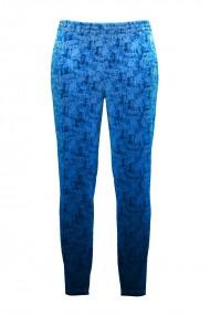 Pantaloni albastri din catifea cu buzunare CMD441