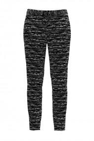 Pantaloni negri din catifea cu buzunare CMD432