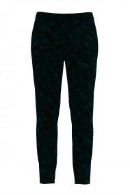 Pantaloni bleumarin din catifea cu imprimeu texturat degrade CMD463
