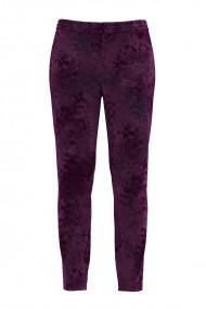 Pantaloni mov din catifea cu buzunare CMD466