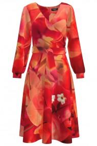 Rochie eleganta cu maneca lunga Flori de hartie CMD468
