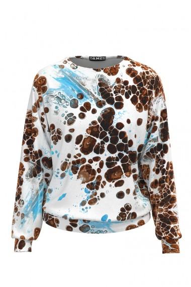 Bluza imprimata tip hanorac din catifea CMD479