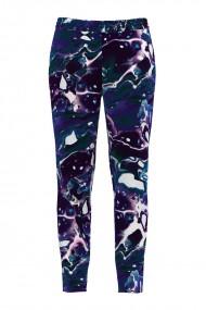 Pantaloni multicolori din catifea cu buzunare CMD483