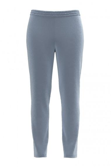 Pantaloni gri deschis din catifea cu buzunare CMD488