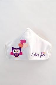 Masca faÈ›a reutilizabila imprimata din material textil MSC123