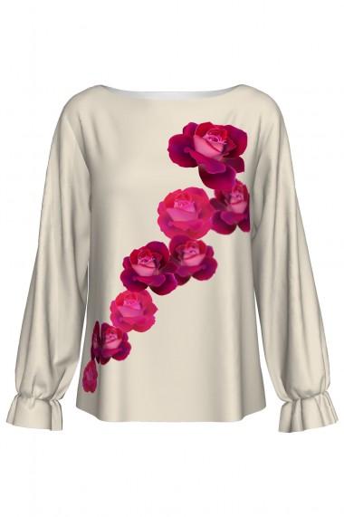 Bluză imprimată digital Roses 1 A842I14