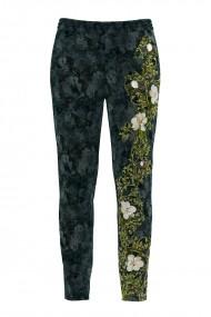 Pantaloni cu print floral din catifea cu buzunare CMD501
