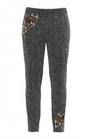 Pantaloni gri din catifea cu buzunare CMD503