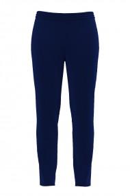 Pantaloni albastri din catifea cu buzunare CMD505