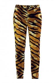 Pantaloni animal print din catifea cu buzunare CMD508