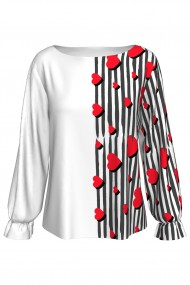 Bluza imprimata digital GIFT HEARTS A842I40