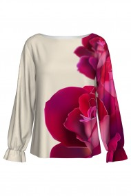 Bluză imprimată digital Rose A842I32
