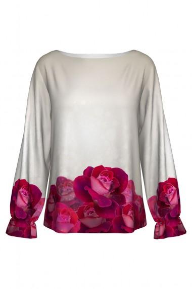 Bluză imprimată digital Roses A842I13