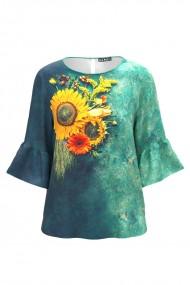 Bluza imprimata digital Floarea soarelui CMD558