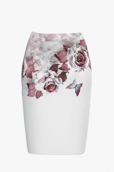 Fusta conica imprimata cu model floral CMD562