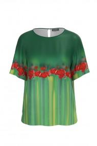 Bluza verde cu imprimeu Maci CMD570