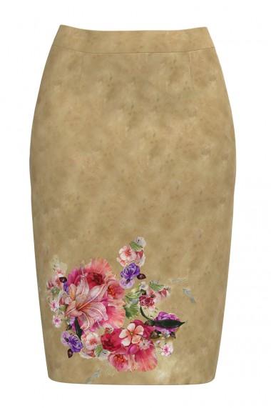 Fusta conica imprimata cu model floral CMD588