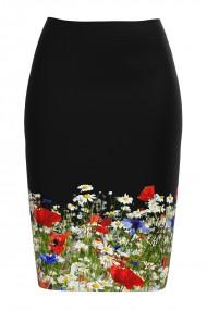 Fusta conica imprimata cu model floral CMD608