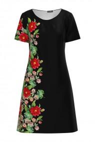 Rochie casual imprimata cu model floral CMD614