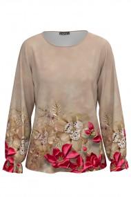 Bluza cu maneca lunga si imprimeu floral CMD681