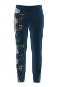 Pantaloni cu imprimeu floral din catifea cu buzunare CMD692