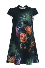 Rochie casual cu imprimeu trandafiri CMD703