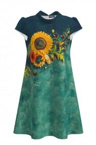 Rochie casual imprimata digital Floarea soarelui CMD705