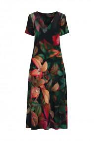 Rochie de vara multicolora lunga cu buzunare imprimata digital Floral CMD720