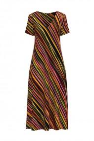 Rochie de vara lunga cu buzunare imprimata digital Multicolora CMD728