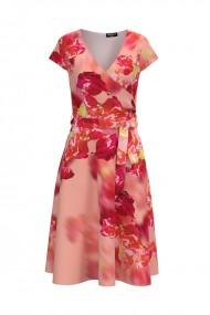 Rochie casual de vara cu maneca scurta si imprimeu Floral CMD739