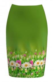 Fusta conica imprimata cu model floral CMD782