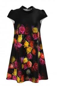 Rochie casual imprimata digital cu model Trandafiri CMD866
