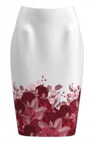 Fusta conica imprimata cu model floral CMD874