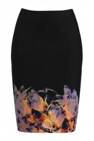 Fusta conica imprimata cu model floral CMD890