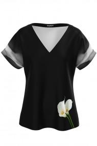 Bluza neagra imprimata digital Cale CMD900