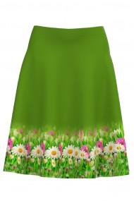 Fusta clos imprimata digital cu model floral CMD954