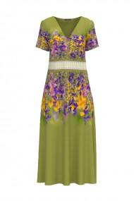 Rochie de vara imprimata Floral lunga cu buzunare CMD955