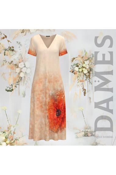 Rochie de vara lunga cu buzunare imprimata digital Floral CMD956