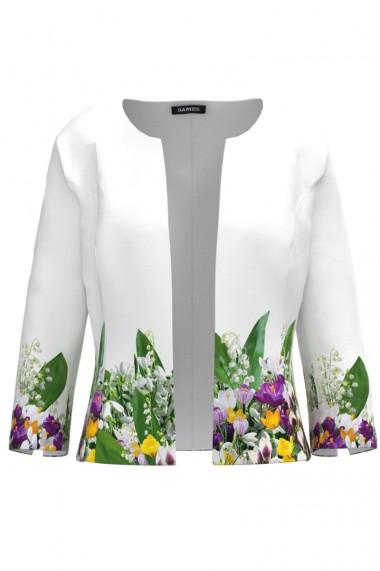 Sacou cambrat imprimat cu model floral Branduse CMD961
