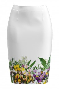 Fusta conica imprimata cu model floral Branduse CMD962