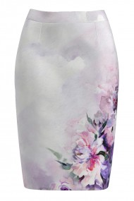 Fusta conica imprimata cu model floral CMD1015