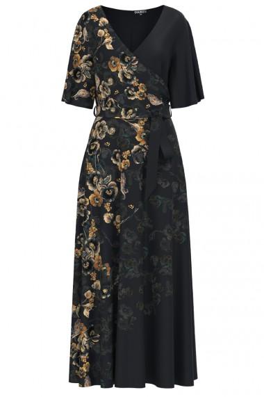 Rochie lunga eleganta de seara imprimata digital cu model Floral CMD1067