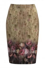 Fusta conica imprimata cu model floral CMD1079