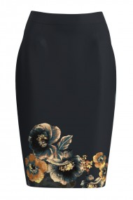 Fusta conica imprimata cu model floral CMD1101