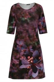 Rochie casual cu maneca imprimata cu model floral CMD1105