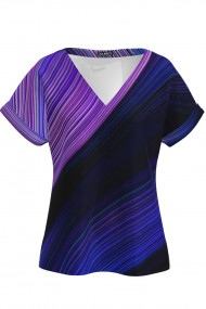 Bluza multicolora de vara cu maneca scurta CMD1147