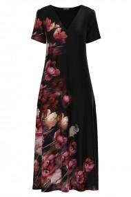 Rochie de vara lunga cu buzunare imprimata digital Floral CMD1175