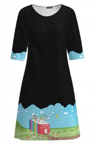 Rochie casual neagra Back To School CMD1186
