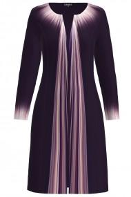 Jacheta de dama lunga imprimata in nuante de mov CMD1218