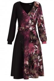 Rochie eleganta cu maneca lunga imprimata digital CMD1379